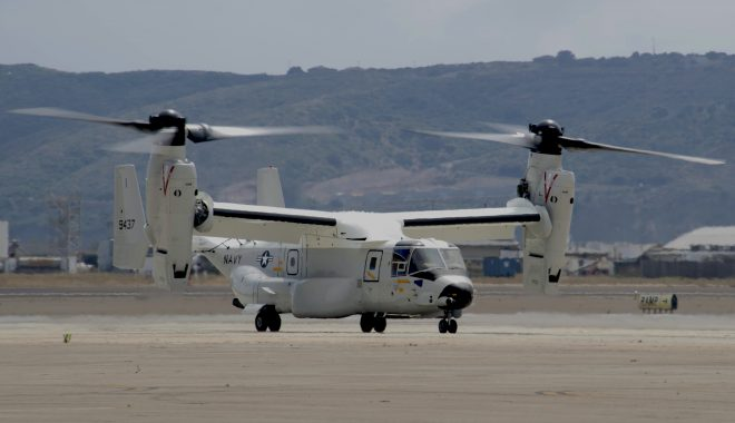 VIDEO: First Operational Navy V-22 Arrives at New COD Squadron