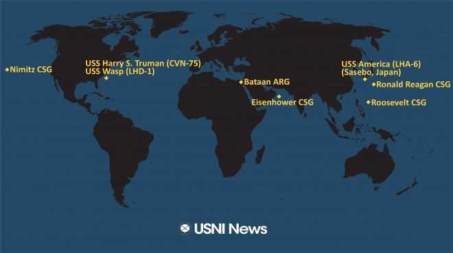 USNI News Fleet and Marine Tracker: June 15, 2020