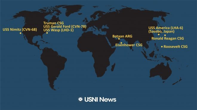 USNI News Fleet and Marine Tracker: June 1, 2020
