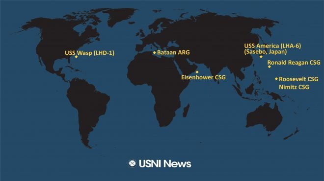 USNI News Fleet and Marine Tracker: June 22, 2020