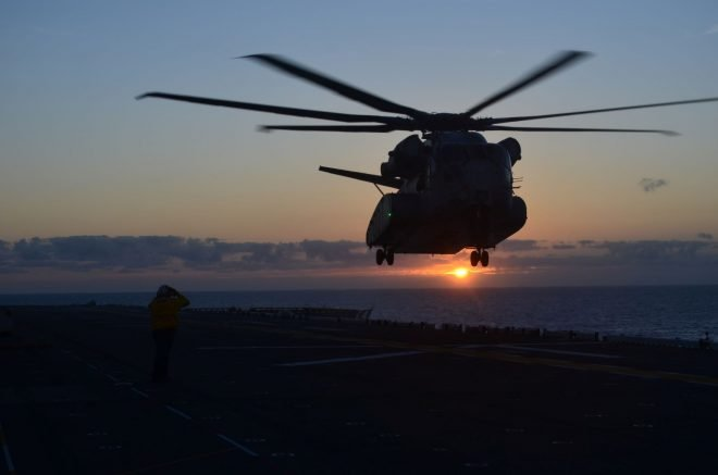 VIDEO: Marines Pleased With CH-53K Success During Sea Trials Aboard USS Wasp