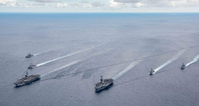Two U.S. Carriers Return to South China Sea After State Dept. Formally Rejects Chinese Claims