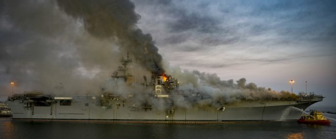 Warships in Maintenance Always Face Increased Risk for Fire Damage