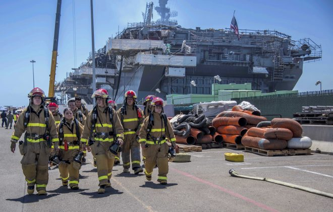 USS Bonhomme Richard Fire Extinguished; CO Thanks Crew for 'Strength and Resilience'