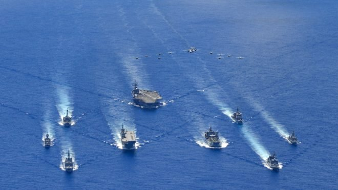 Reagan CSG Drilling with Australian, Japanese Ships in Philippine Sea