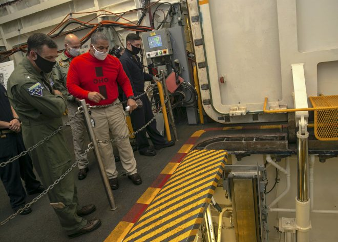 Navy Verifies USS Gerald R. Ford's Sixth Advanced Weapons Elevator