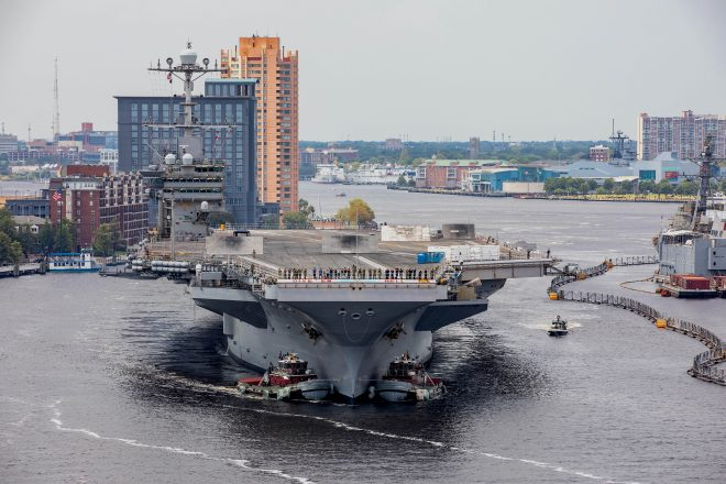 Carrier Truman Enters Shipyard for Short Repair Period After Back-to-Back Deployments