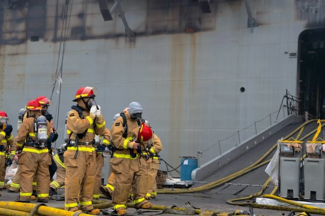 UPDATED: Fire Fight on USS Bonhomme Richard Enters 2nd Day, 59 Treated for Injuries