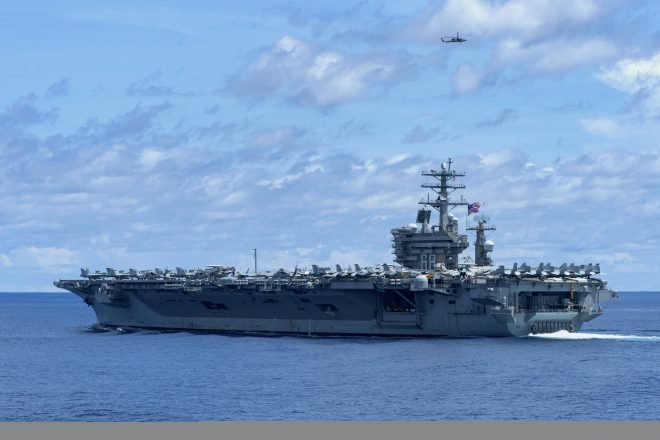 Carrier USS Nimitz in the Middle East as Eisenhower Strike Group Begins Trip Home