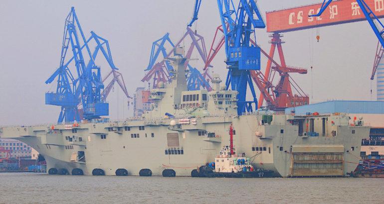 Chinese Type 075 Big Deck Amphib Preparing for Sea Trials - USNI News