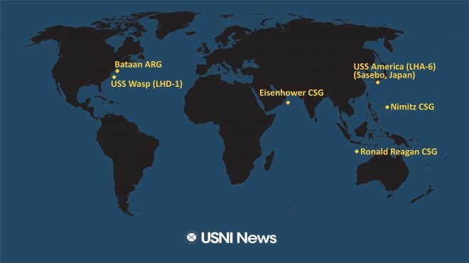 USNI News Fleet and Marine Tracker: July 13, 2020