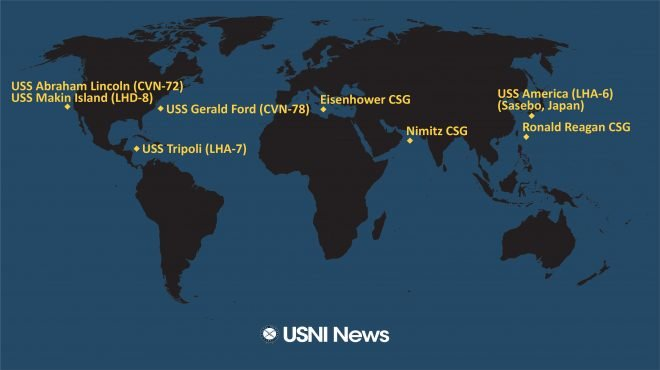USNI News Fleet and Marine Tracker: July 27, 2020