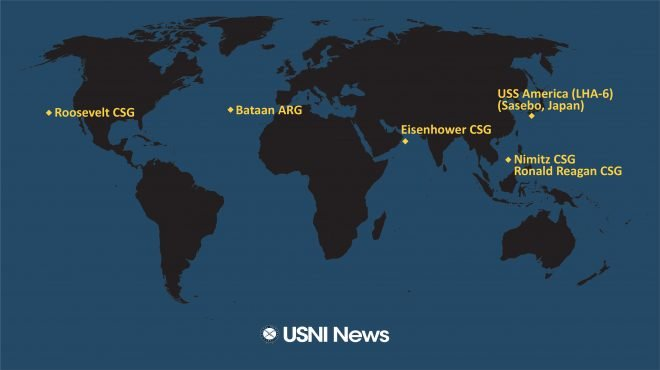 USNI News Fleet and Marine Tracker: July 6, 2020