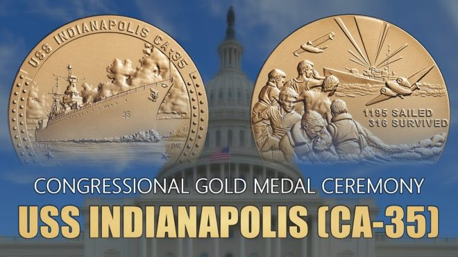 USS Indianapolis Crew Awarded Congressional Gold Medal on 75th Anniversary of Sinking