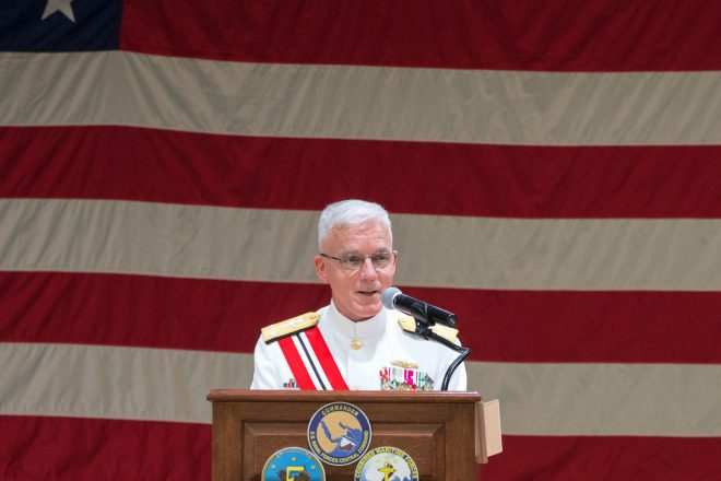 VIDEO: VADM Paparo Takes Command of U.S. 5th Fleet; VADM Malloy to Deputy CENTCOM