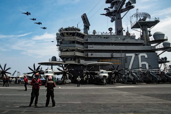 Ronald Reagan CSG Exercises With Land-Based Navy, Air Force Aircraft Off Japan