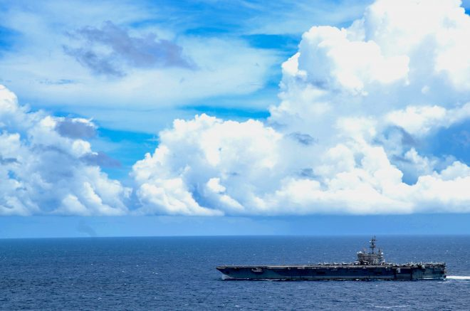 Carrier Reagan Back In South China Sea