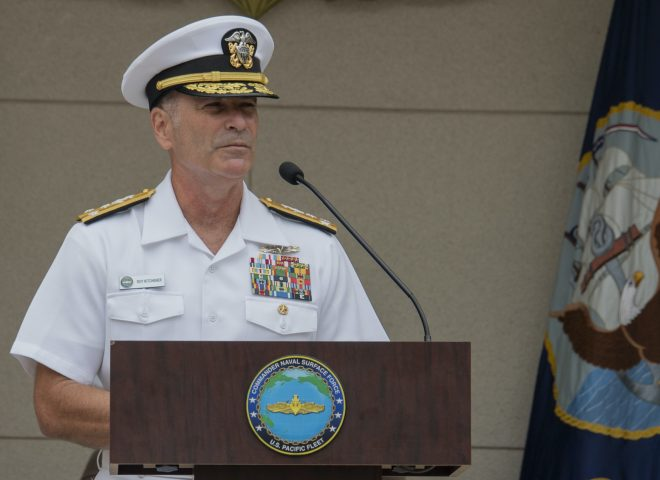Vice Adm. Kitchener Takes Command of Naval Surface Forces as Vice Adm. Brown Retires