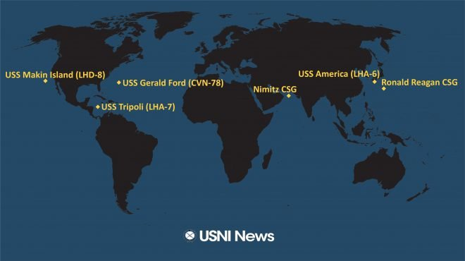 USNI News Fleet and Marine Tracker: Aug. 10, 2020