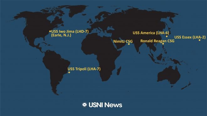 USNI News Fleet and Marine Tracker: Aug. 17, 2020