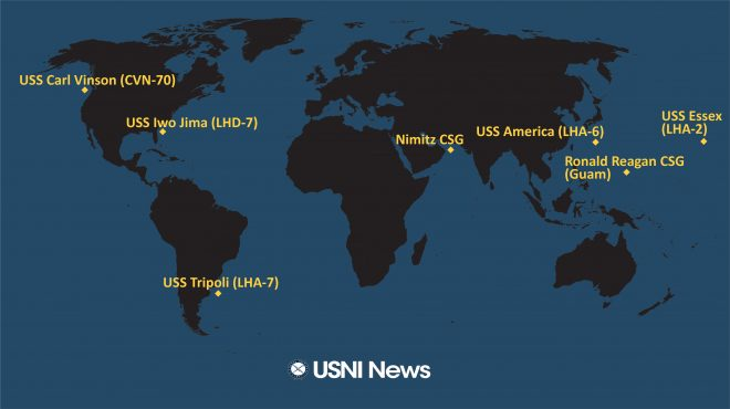 USNI News Fleet and Marine Tracker: Aug. 24, 2020