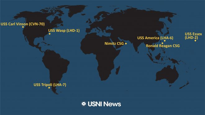 USNI News Fleet and Marine Tracker: Aug. 31, 2020