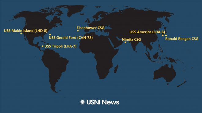 USNI News Fleet and Marine Tracker: Aug. 3, 2020
