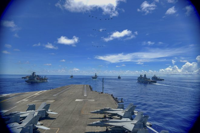 Carrier Reagan Back in the South China Sea, U.S. Destroyer Makes Taiwan Strait Transit