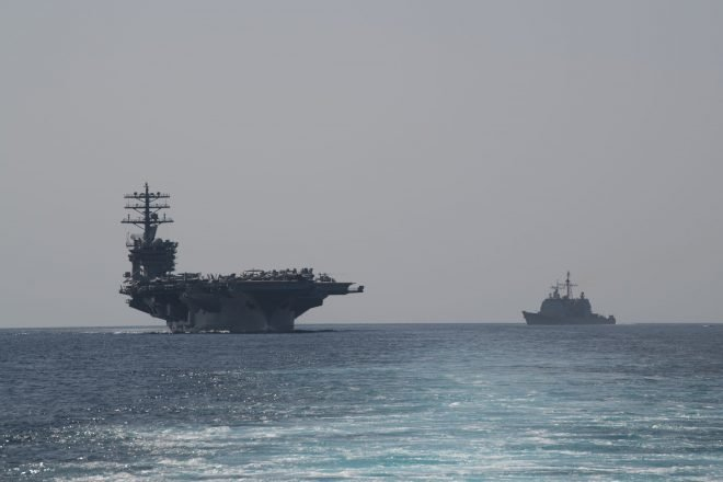 USS Nimitz Now Operating in the Persian Gulf