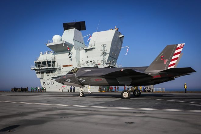 VIDEO: Marine F-35Bs Underway on U.K. Aircraft Carrier