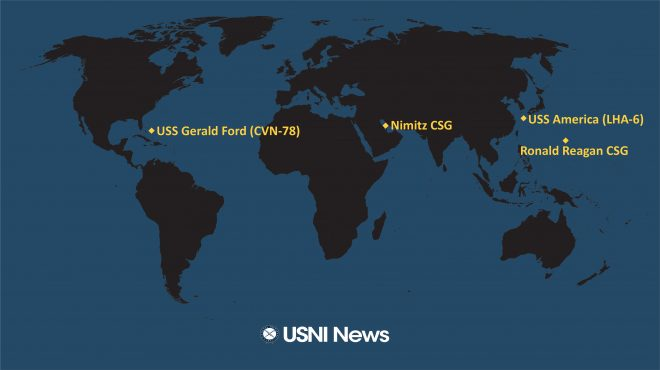 USNI News Fleet and Marine Tracker: Sept. 21, 2020