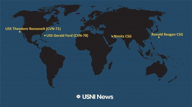USNI News Fleet and Marine Tracker: Sept. 28, 2020