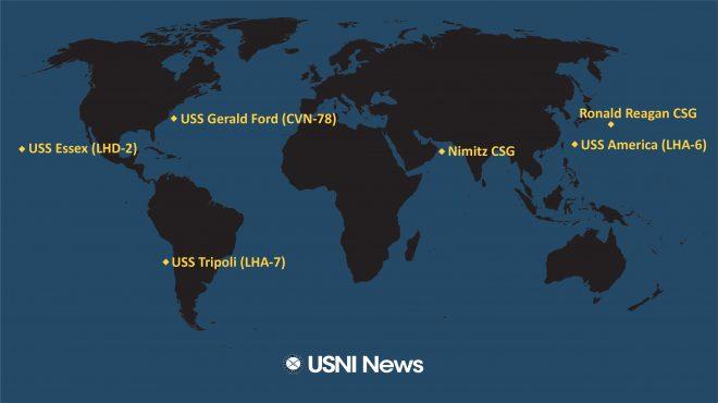 USNI News Fleet and Marine Tracker: Sept. 7, 2020