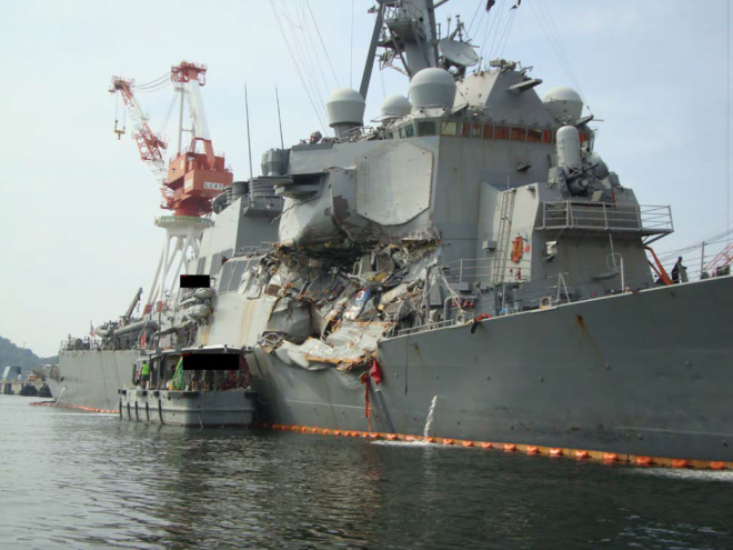 NTSB: 'Unexplained' Course Change Was 'A Critical Error' in Fatal USS Fitzgerald Collision