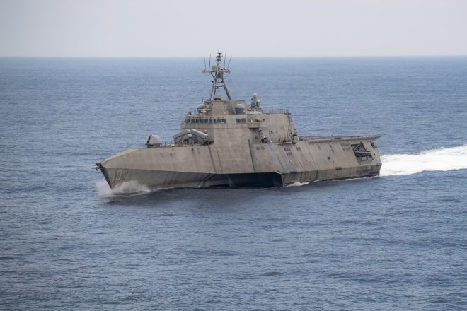 Littoral Combat Ship USS Gabrielle Giffords on Anti-Drug Patrols in SOUTHCOM