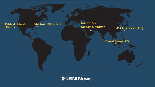 USNI News Fleet and Marine Tracker: Oct. 12, 2020