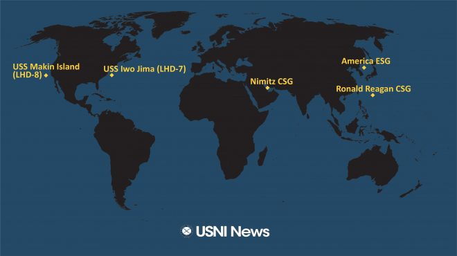 USNI News Fleet and Marine Tracker: Oct. 19, 2020