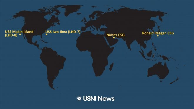 USNI News Fleet and Marine Tracker: Oct. 26, 2020