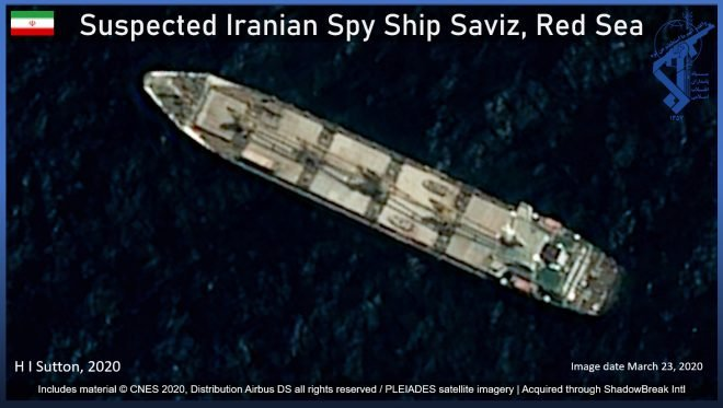 Iranian Spy Ship Commands Strategic Position on Vital Oil Route