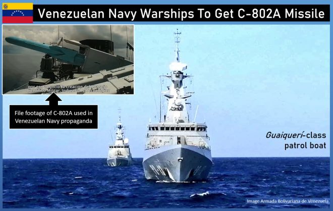 China Arming Venezuelan Navy With Anti-Ship Missiles