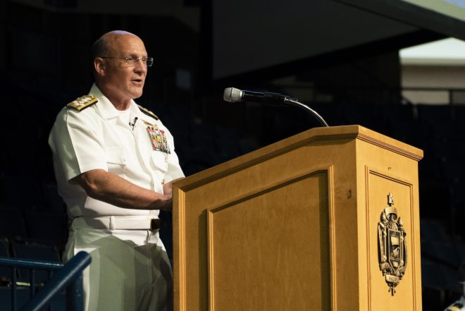 CNO Gilday Ready to Act on Parts of Future Fleet Plan — As Long As It Doesn't Hurt Readiness