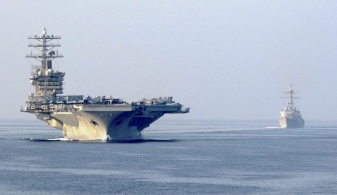 Pentagon: Carrier USS Nimitz Will Stay in Middle East After Threats from Iran