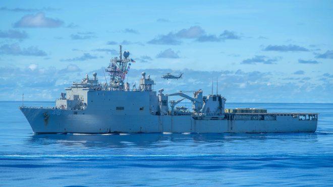 West Coast Amphib USS Comstock off Honduras for Hurricane Relief, Anti-Drug Operations