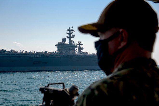 USS Nimitz Leaves Persian Gulf Headed to Exercise with Indian Aircraft Carrier
