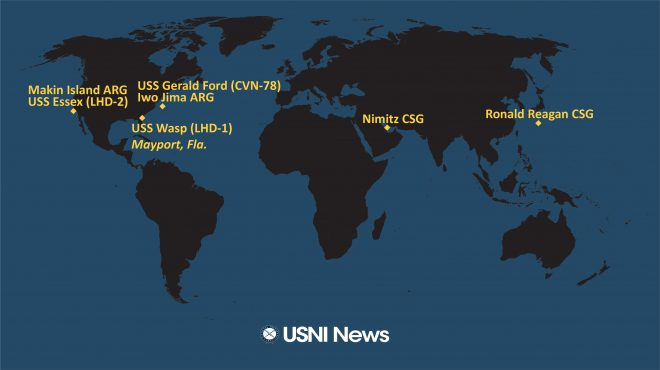 USNI News Fleet and Marine Tracker: Nov. 2, 2020
