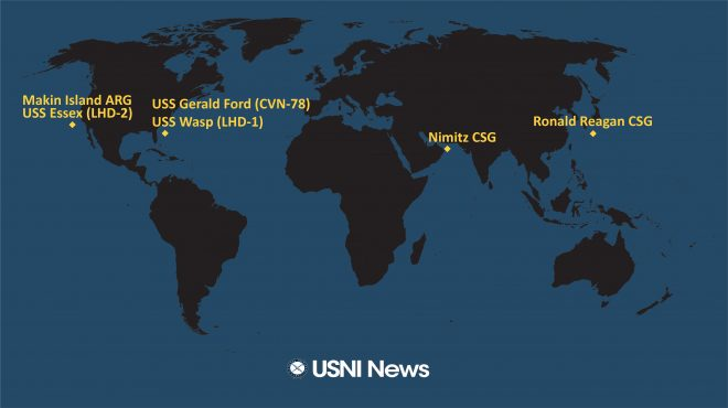USNI News Fleet and Marine Tracker: Nov. 9, 2020
