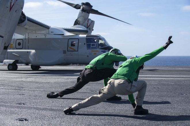 VIDEO: New Navy CMV-22B Makes First Carrier Landing