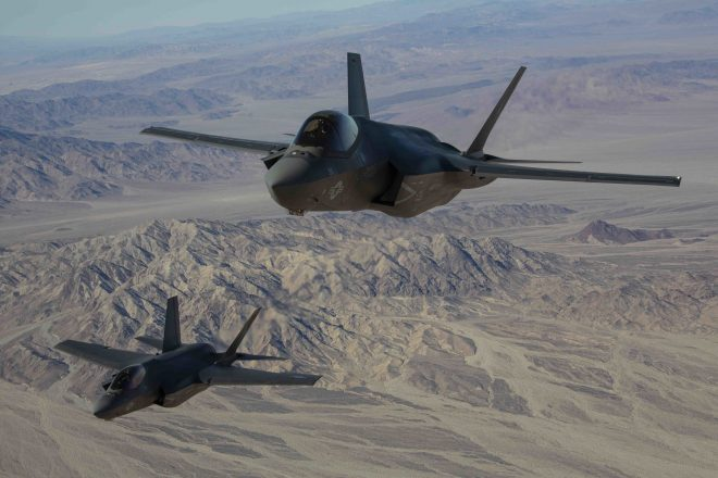 Marines Demonstrate Ability to Include Carrier-Based F-35Cs in Expeditionary Base Plans