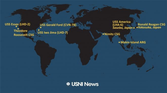 USNI News Fleet and Marine Tracker: Dec. 14, 2020