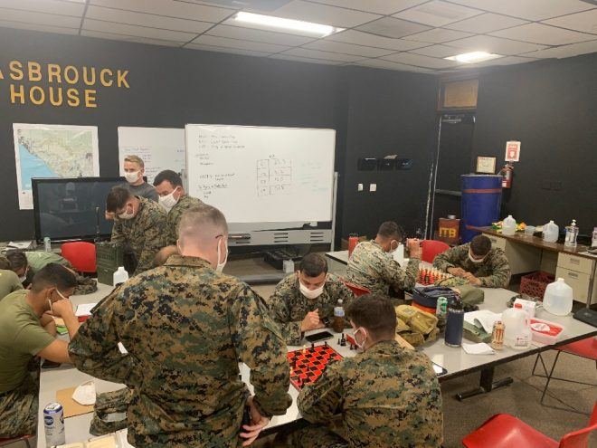 Marine Infantry Training Shifts From 'Automaton' to Thinkers, as School Adds Chess to the Curriculum